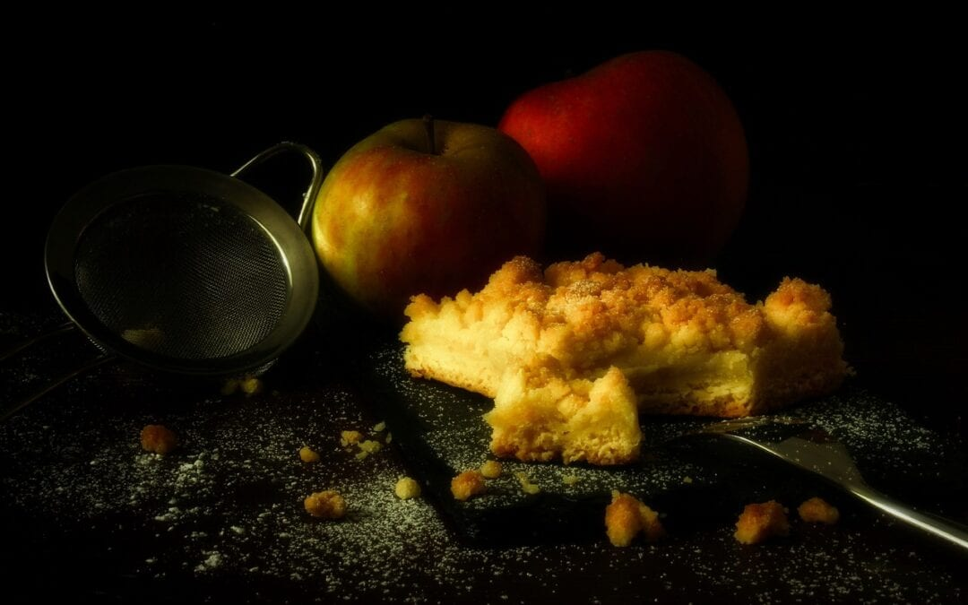 Äppelsmulpaj med smak av flingsalt